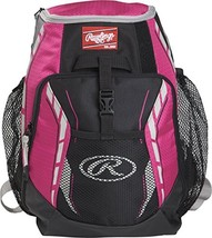 Rawlings R400 Youth Players Team Equipment Backpack, Neon Pink - $35.09