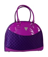 Guess Purple Violet Quilted Dome Travel Tote Bag Handbag Luggage NEW NWT - $199.99