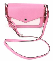 Michael Kors Greenwich Blossom Tulip Pink Leather Shoulder Bag Small Han... - $198.22