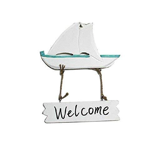 Panda Superstore [Sailing] Wall Decor Home Decorative Sign Wood Welcome Sign
