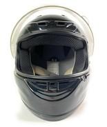 Modern DOT Certified Fuel Full Face Shield Gloss Black Helmet Large Moto... - $59.38