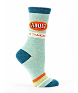 Adult in Training Blue-Q Trouser Crew Socks New Women's Size 9-11 Fashion - $10.99