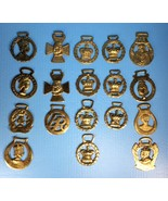Lot of 18 Vintage & Antique Commemorative Coronation Horse Brass Medalli... - $247.49
