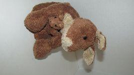 Brown cream tan Kangaroo mom baby joey beanbag plush soft floppy no tags image 6