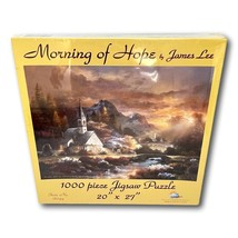 Sunsout Jig Saw Puzzle Church Morning of Hope 1000 pieces 27 x 20 New Sealed - $19.95