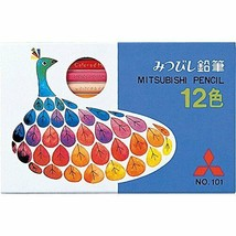 *Mitsubishi Pencil colored pencils No.101 peacock 12 colors K10112CK - $8.48