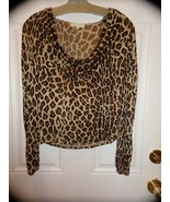 CELINE LEOPARD PRINT BLOUSE TOP SIZE SMALL EUC AUTHENTIC - $98.99