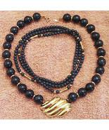Avon Azure Necklace Collection Blue Bead Gold Plated Motif Choker Lot 19... - $19.75