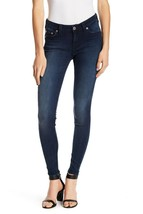 True Religion Crystal Pocket Curvy Skinny Jeans Dark Blue denim Size 28 NWT - $92.52