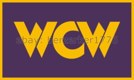 WCW World Championship Wrestling 3'x5' Purple flag - WWF, WWE USA Seller... - $25.00