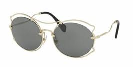 Miu Miu Sunglasses MU50SS ZVN9K1 57mm Women's sunglasses Pale Gold / Dar... - $184.63