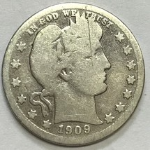 1909-D BARBER QUARTER - NICE GRADE CIRCULATED COIN   #747 - $7.19