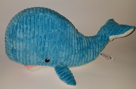 Mary Meyer Blue White Whale Plush Lovey Stuffed Animal Toy Ribbed - $29.65