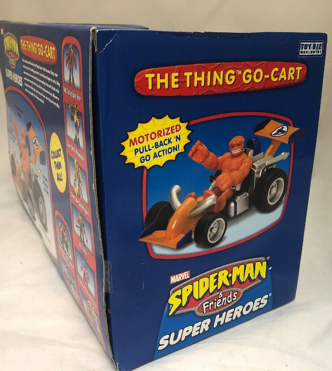 Marvel Spider-Man & Friends The Thing You Go- Cart Motorized Pull Back Go Action image 7