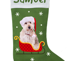 Doodle Dog Christmas Stocking - Personalized and Hand Made Doodle Stocking - Gre - £21.98 GBP