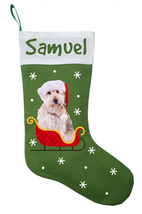 Doodle Dog Christmas Stocking - Personalized and Hand Made Doodle Stocki... - $32.00