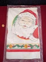 "Vintage Christmas Paper Tablecloth Santa Jingle Bells Holly 52"" x 96"" NIP - $7.03"