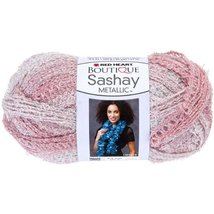 RED HEART Boutique Sashay Metallic Yarn, Icy Pink - $15.99