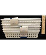 Baskets Storage Trays White Plastic Set 6 Rectangle 10x3 Mainstay NEW - $12.86