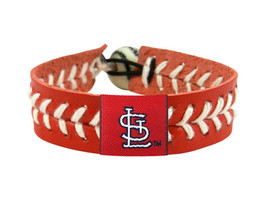 MLB St Louis Cardinals Team Color Leather Baseball Bracelet - $12.99