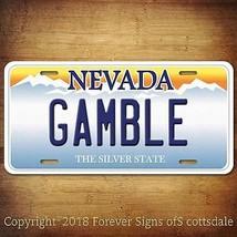 Casino Gambling GAMBLE Nevada Aluminum Vanity License Plate Tag - $12.82