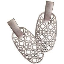 Auth NEW Kendra Scott ARAGON SILVER FILIGREE Drop Earrings & Dust Cover - $59.80