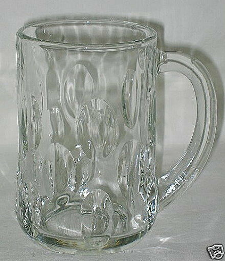 Primary image for Anchor Hocking Cut Olive Pattern 13-oz Glass Mug