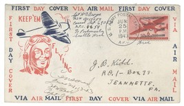 1943 US Army Postal Service APO Serviceman KEEP EM FLYING Air Mail Cover... - $7.69