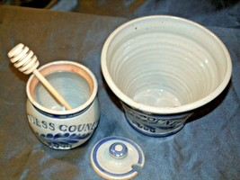 Daviess County Westerwald Pottery Honey Pot with Lid & Bowl AA-191833 image 2
