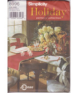 Holiday Collection Simplicity 8996 Thanksgiving Runner Place Mats Sewing... - $11.00