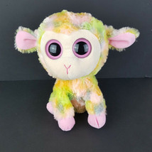 Ty Beanie Boo Plush Blossom Pastel Lamb Pink Green Yellow Easter Big Eye... - $16.82