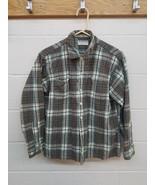 Vintage '60s Puritan Aquawool button front plaid long sleeve wool shirt ... - $24.75