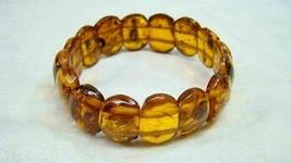 Estate Genuine Amber Beads Vintage Stretch Bracelet - $49.99