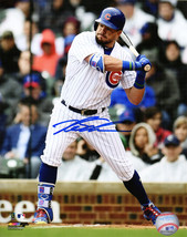 Kyle Schwarber Signed Chicago Cubs Batting Action 8x10 Photo - $180.00