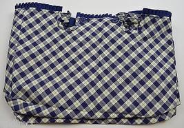 Longaberger Blue Ribbon Crafting Basket Liner Blue Ribbon Plaid Fabric A... - $14.99