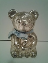 Vintage Silver Meatal Baby bear Bank  - $8.32