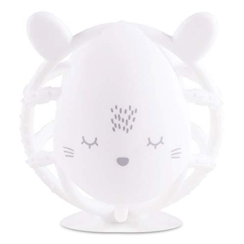 Tiny Twinkle Silicone Teether Toy - Rose Bunny (White Bunny)