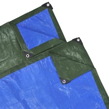 Green/Blue Tarp Tarpaulin Poly Tent Canopy Cover Camping Ground Sheet 4 ... - $26.99