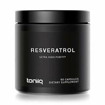 Ultra High Purity Resveratrol Capsules - 98% Trans-Resveratrol - 60 Caps - $32.79