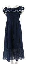 Vince Camuto Ruffled Off-the- Shoulder Maxi Dress High Tide XXS NEW A308796 - $90.07