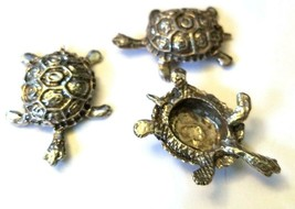 TURTLE FIGURINE CAST WITH FINE PEWTER - Approx. 1 1/4 inches Long (T151) image 1