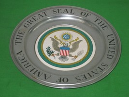Vintage Wilton Armetale RWP Plate The Great Seal Of The United States Of... - $16.79