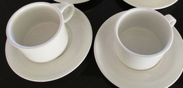 2 Sets Midwinter Wedgwood Group Stonehenge White Cup & Saucer ROUND Make... - $20.78