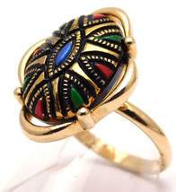 Sarah Coventry Adjustable Ring, TAPESTRY From 1973 (5391) Mosaic Design - £7.53 GBP