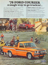 1978 Ford Courier Truck Tough Way to Go Truckin' Print Ad Orange White &... - $9.99