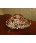 Floral Cut Crystal Vintage Cigar Ashtray - $34.00
