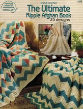 25 Knit Crochet Ripple Southwest Country Rustic Amish Afghan Patterns - $13.99