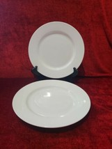 Tabletops Unlimited Cascade Set of 2 Dinner Plate Solid White Bone China 10 5/8 - $23.75