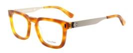 Calvin Klein CK8018 240 Men's Eyeglasses Frames Amber Tortoise 50-20-140... - $110.00