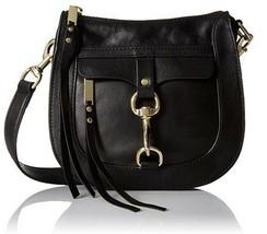 Rebecca Minkoff Dog Clip Saddlebag Crossbody in Black (HP36IDCX95) - $118.79